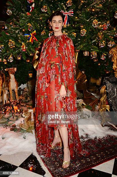 Erin O'Connor attends the Claridge's Dolce and Gabbana Christmas Tree party at Claridge's Hotel on November 19 2014 in London England