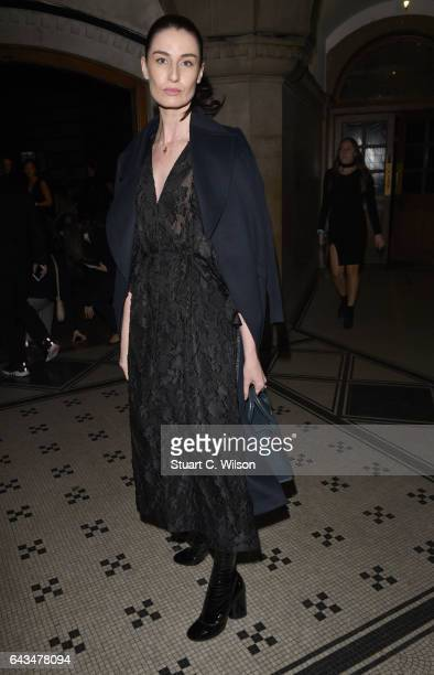 Erin O'Connor attends the Emilia Wickstead AW17 catwalk show at The College on February 18 2017 in London England