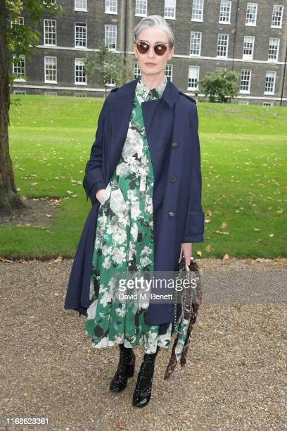 Erin O'Connor attends the Erdem front row during London Fashion Week September 2019 at Grays Inn Gardens on September 16, 2019 in London, England.