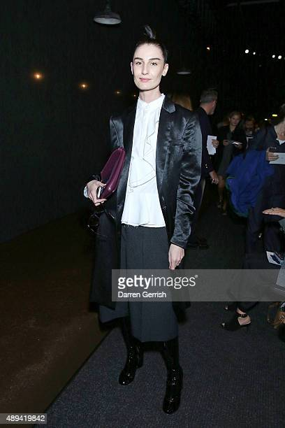 Erin O'Connor attends the Erdem show during London Fashion Week Spring/Summer 2016 on September 21 2015 in London England