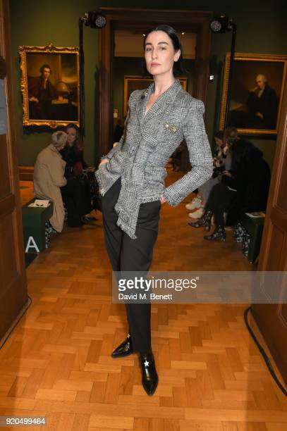 Erin O'Connor attends the Erdem show during London Fashion Week February 2018 at National Portrait Gallery on February 19 2018 in London England