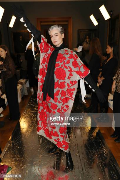 Erin O'Connor attends the Erdem show during London Fashion Week February 2020 on February 17 2020 in London England