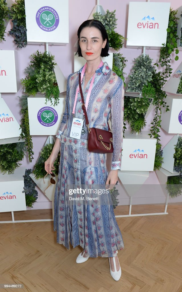 Erin O'Connor attends the evian Live Young Suite at The Championship at Wimbledon on July 9, 2018 in London, England.