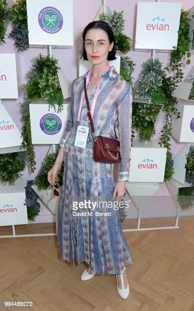 Erin O'Connor attends the evian Live Young Suite at The Championship at Wimbledon on July 9 2018 in London England