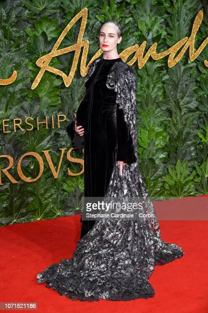 Erin O'Connor attends the Fashion Awards 2018 in partnership with Swarovski at Royal Albert Hall on December 10 2018 in London England