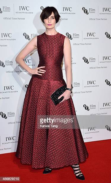 Erin O'Connor attends the IWC Gala dinner in honour of the BFI at Battersea Evolution on October 7 2014 in London England