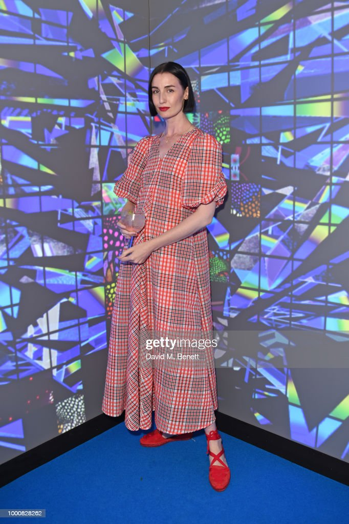 Erin O'Connor attends the launch of Bombay Sapphire's 'Canvas', a destination designed to stir creativity and inspire creative self-expression, in Shoreditch on July 17, 2018 in London, England.
