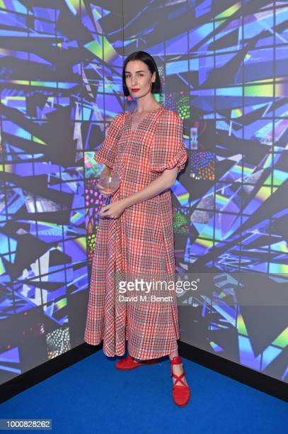 Erin O'Connor attends the launch of Bombay Sapphire's 'Canvas' a destination designed to stir creativity and inspire creative selfexpression in...