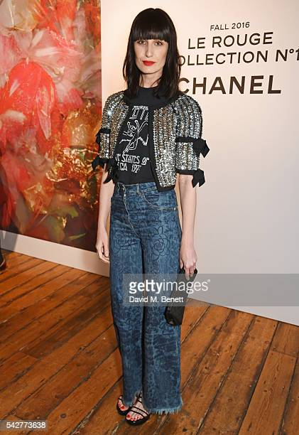 Erin O'Connor attends the launch of Lucia Pica's makeup collection for Chanel at Somerset House on June 23 2016 in London England