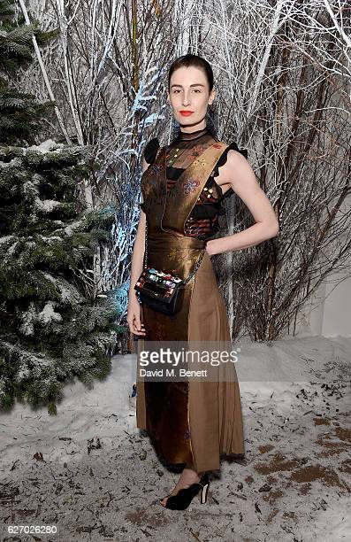 Erin O'Connor attends the launch of 'The Reindeer 2016' an immersive Christmas dining experience by Bistrotheque at Sarabande featuring cocktails...