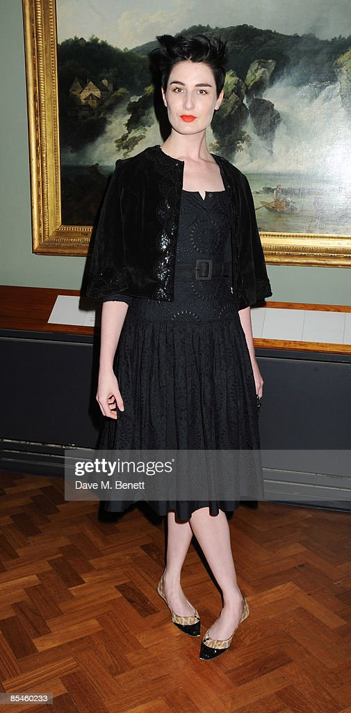 Erin O'Connor attends the launch party for the Victoria & Albert Museum's new theatre and performance galleries, which were opened by Sir Peter Hall and Labour's new Culture Minister Barbara Follett at the Victoria & Albert Museum on March 16, 2009 in London, England.