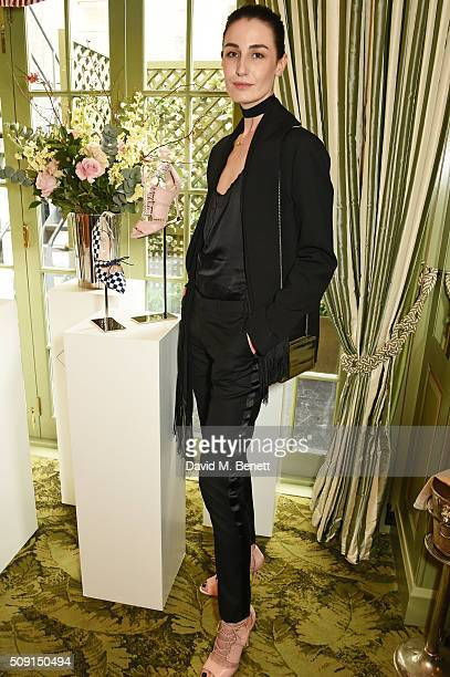 Erin O'Connor attends the LKBennett x Bionda Castana lunch at Mark's Club on February 9 2016 in London England