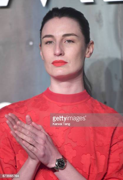 Erin O'Connor attends the Lost In Space event to celebrate the 60th anniversary of the OMEGA Speedmaster at the Tate Modern on April 26 2017 in...