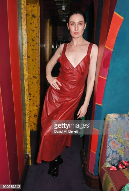 Erin O'Connor attends the LOVE and MIU MIU Women's Tales Party at Loulou's on February 19 2018 in London England