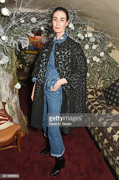 Erin O'Connor attends the LOVE Christmas party at George on December 18 2015 in London England