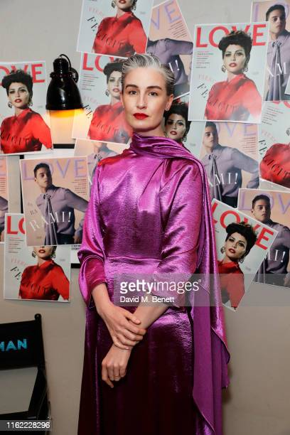 Erin O'Connor attends the #MOVINGLOVE screening hosted by Derek Blasberg Katie Grand at Screen on the Green on July 15 2019 in London England