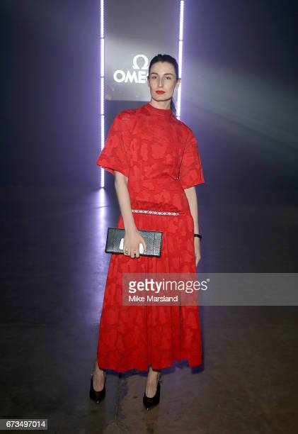 Erin O'Connor attends the OMEGA 'Lost In Space' dinner to celebrate the 60th anniversary of the OMEGA Speedmaster which has been worn by every...