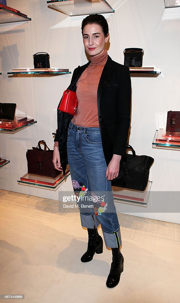Erin O'Connor attends the opening of Christopher Kane's London Flagship store on March 24, 2015 in London, England.