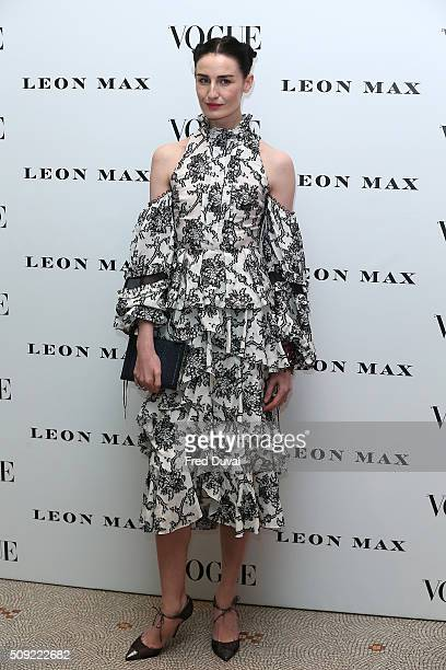 Erin O'Connor attends the opening of Vogue 100 : A century of Style at National Portrait Gallery on February 9, 2016 in London, England.