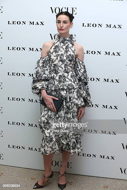Erin O'Connor attends the opening of Vogue100 : A century of Style at National Portrait Gallery on February 9, 2016 in London, England.