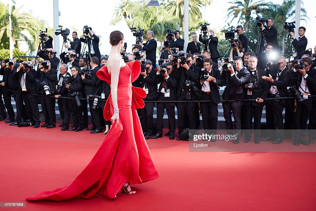 Erin O'Connor attends the Premiere of 'Carol' during the 68th annual Cannes Film Festival on May 17, 2015 in Cannes, France.