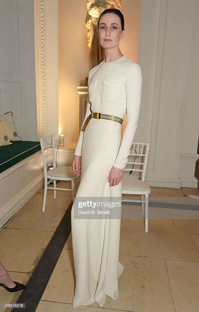 Erin O'Connor attends The Ralph Lauren & Vogue Wimbledon Summer Cocktail Party hosted by Alexandra Shulman and Boris Becker at The Orangery at Kensington Palace on June 22, 2015 in London, England.
