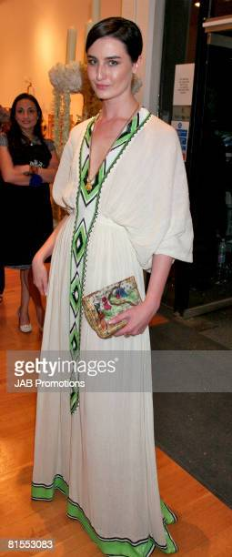 Erin O'Connor attends the Royal College of Art Summer Fashion Show at the Royal College of Art on the June 12, 2008 in London, England