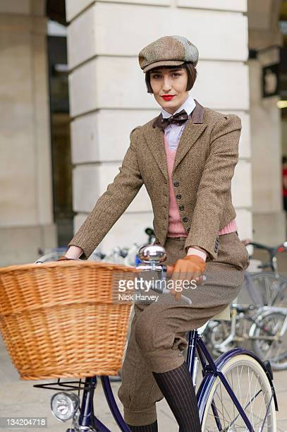 Erin O'Connor attends the Rugby Ralph Lauren Tweed Run in Covent Garden on November 26 2011 in London England