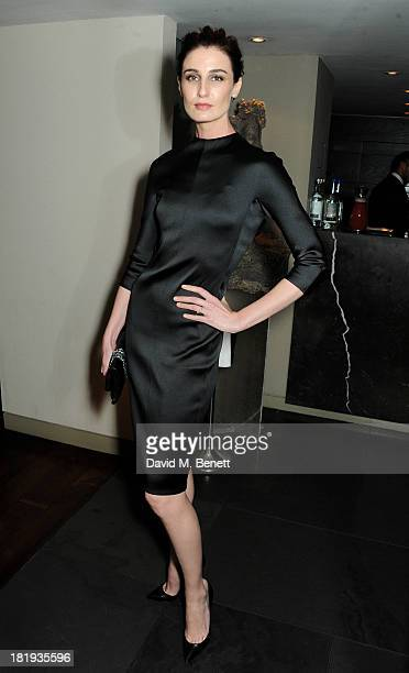 Erin O'Connor attends the Sky Living rebrand dinner at the Greenhouse Restaurant on September 26 2013 in London England