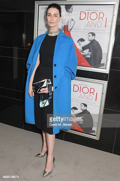 Erin O'Connor attends the UK premiere of 'Dior And I' at The Curzon Mayfair on March 16 2015 in London England