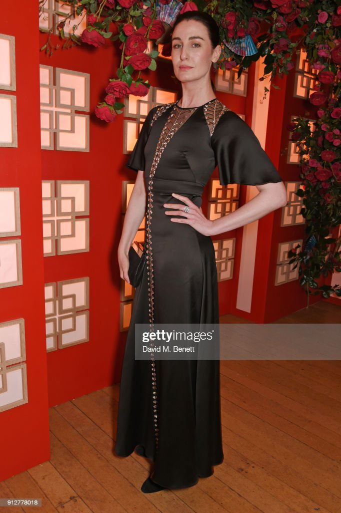 Erin O'Connor attends Wendy Yu's Chinese New Year Celebration at Kensington Palace on January 31, 2018 in London, United Kingdom.