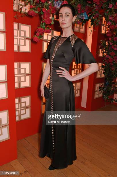 Erin O'Connor attends Wendy Yu's Chinese New Year Celebration at Kensington Palace on January 31 2018 in London United Kingdom