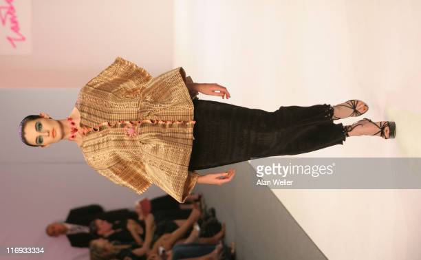 Erin O'Connor during London Fashion Week Spring/Summer 2007 Zandra Rhodes Runway at BFC Tent in London Great Britain