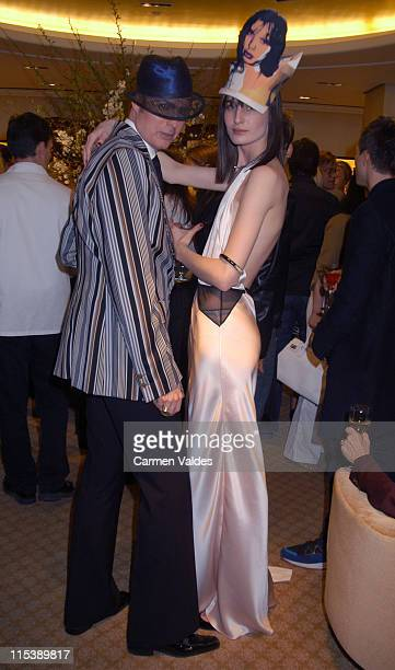 Erin O'Connor during Philip Treacy Spring 2003 Hat Collection at Bergdorf Goodman in New York City New York United States