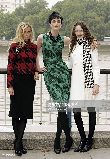 Erin O'Connor Elizabeth Jagger and Laura Bailey pose for a photograph as they Launch a new campaign for Marks and Spencer on September 12 2006 in...