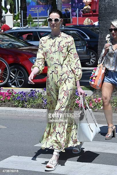 Erin O'Connor is seen on day 6 of the 68th annual Cannes Film Festival on May 18 2015 in Cannes France