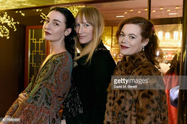 Erin O'Connor Jade Parfitt and Jasmine Guiness attend ATKINSONS 1799 London Store Launch Reception and Dinner at Burlington Arcade on November 23...
