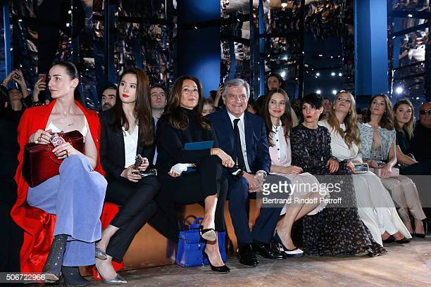 Erin O'Connor Liu Yifei CEO Dior Sidney Toledano and his wife Katia Olga Kurylenko Noomi Rapace Lady Kitty Spencer and Sai Bennett attend the...