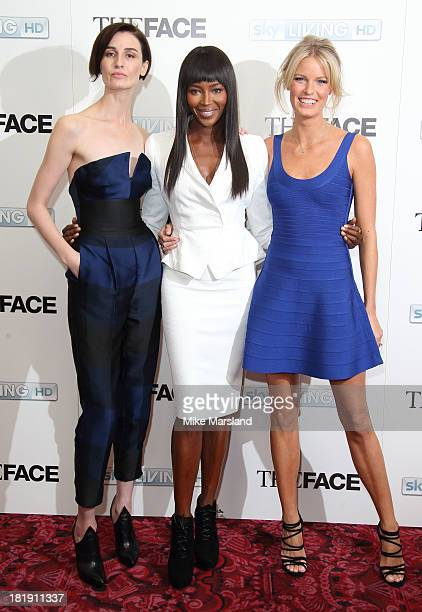 Erin O'Connor Naomi Campbell and Caroline Winberg attend a special screening and QA sessions for the new series of The Face at The Royal Opera House...