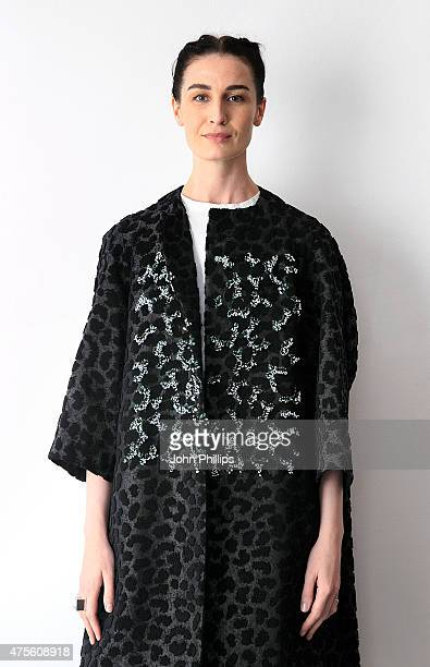 Erin O'Connor on day 4 of Graduate Fashion Week at The Old Truman Brewery on June 2 2015 in London England