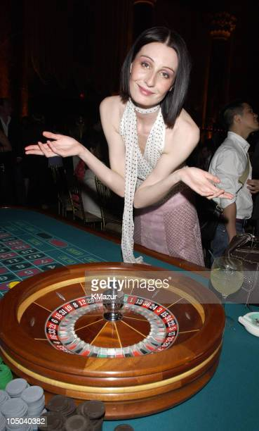 Erin O'Connor plays roulette during Viva Glam Casino sponsored by MAC Cosmetics to benefit DIFFA and hosted by Maggie Rizer at Cipriani 42nd Street...