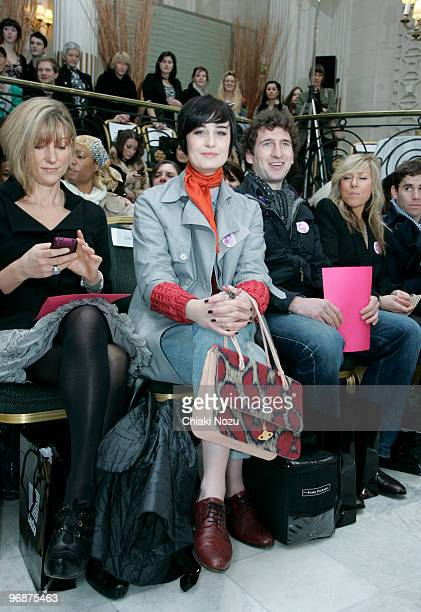 Erin O'Connor poses on the front row at the Maria Grachvogel show for London Fashion Week Autumn/Winter 2010 at The Waldorf Hilton Hotel on February...