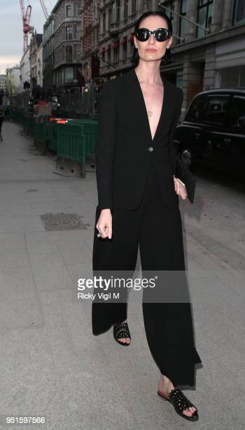 Erin O'Connor seen attending Azzedine Alaia flagship store launch party on April 26 2018 in London England