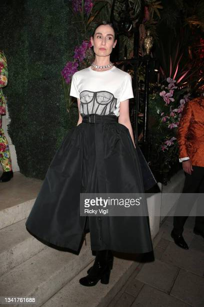 Erin O'Connor seen attending the BFC Changemakers Prize in partnership with Swarovski at Annabel's during London Fashion Week September 2021 on...