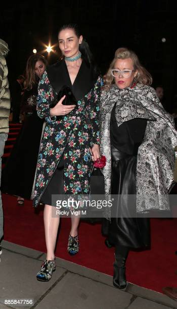 Erin O'Connor seen leaving The Fashion Awards 2017 held at Royal Albert Hall on December 4 2017 in London England