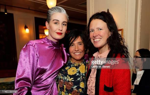 Erin O'Connor Sharleen Spiteri and Katie Grand attend the #MOVINGLOVE dinner hosted by Felicity Jones Derek Blasberg Katie Grand at Bellanger on July...