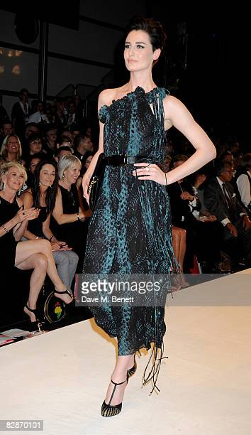 Erin O'Connor walks down the runway during the Fashion For Relief LFW Spring Summer 2009 fashion show at the BFC Tent on September 17 2008 in London...