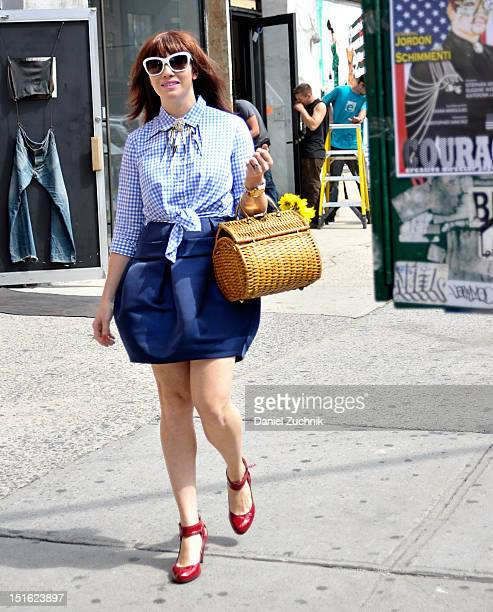 Erin O'Keefe seen outside the Rebecca Taylor show on September 8 2012 in New York City