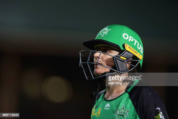 Erin Osborne of the Stars walks from the field after being dismissed by Sarah Aley of the Sixers during the Women's Big Bash League WBBL match...