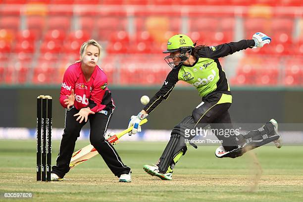 Erin Osborne of the Thunder runs during the WBBL match between the Thunder and Sixers at Spotless Stadium on December 28 2016 in Sydney Australia